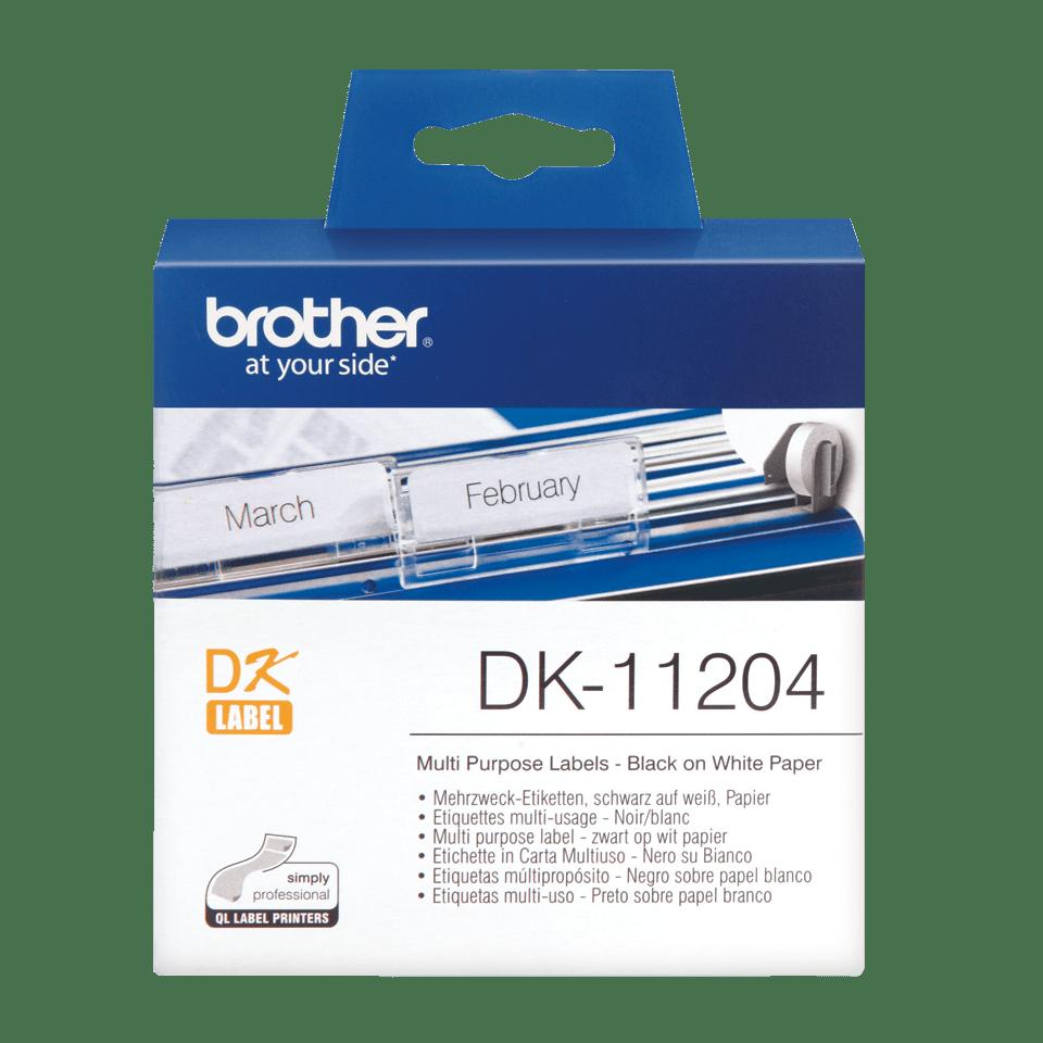 DK-11204 étiquettes multi-usage Brother originales
