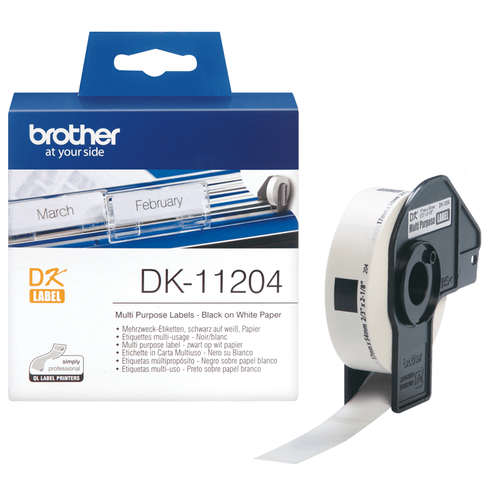 DK-11204 étiquettes multi-usage Brother originales