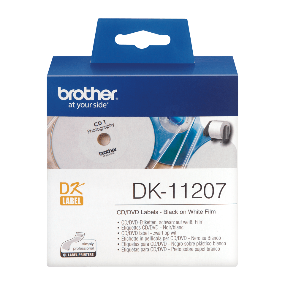 Originele Brother DK-11207 CD/DVD labels