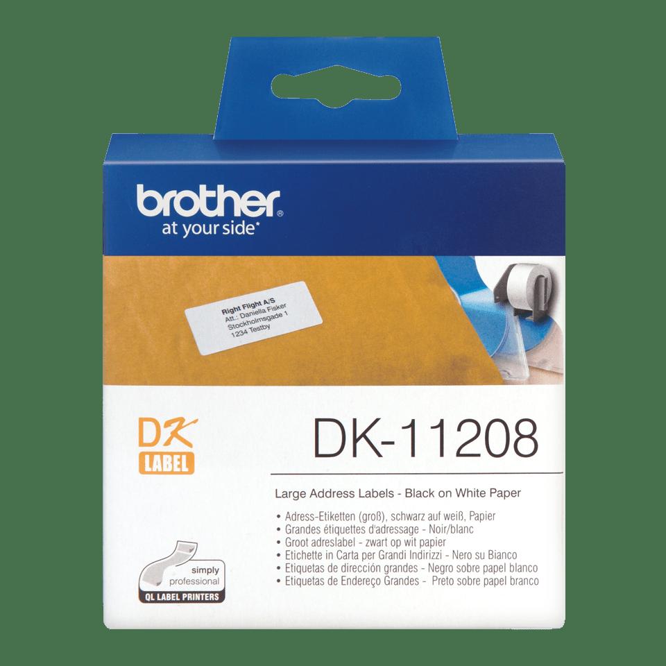 DK-11208 grandes étiquettes d'adressage Brother originales