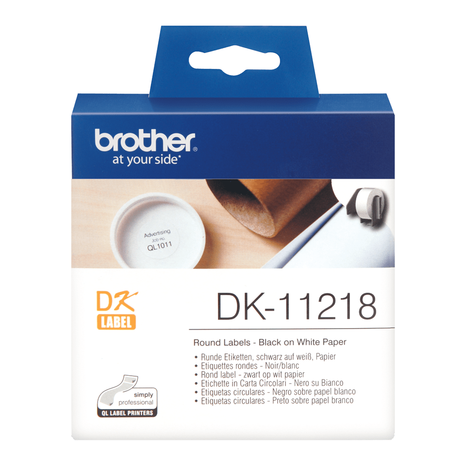 Originele Brother DK-11218 ronde labels