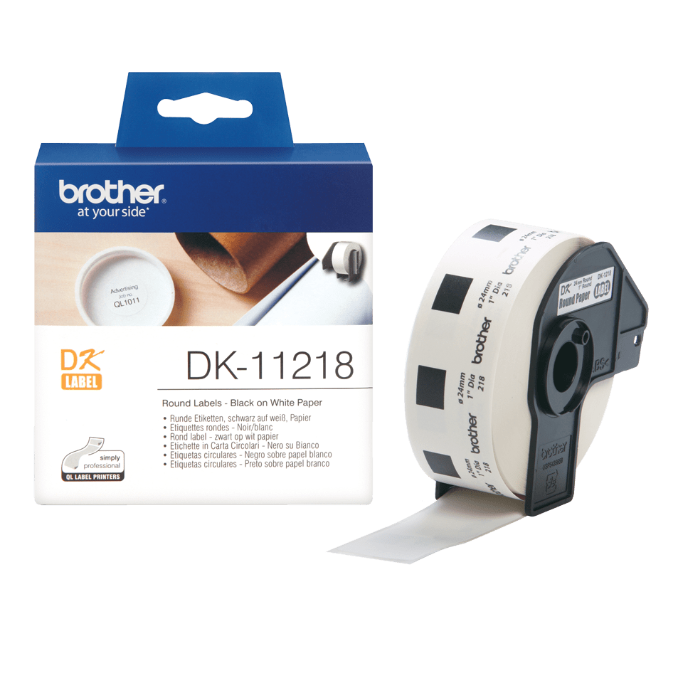 DK-11218 étiquettes rondes Brother originales