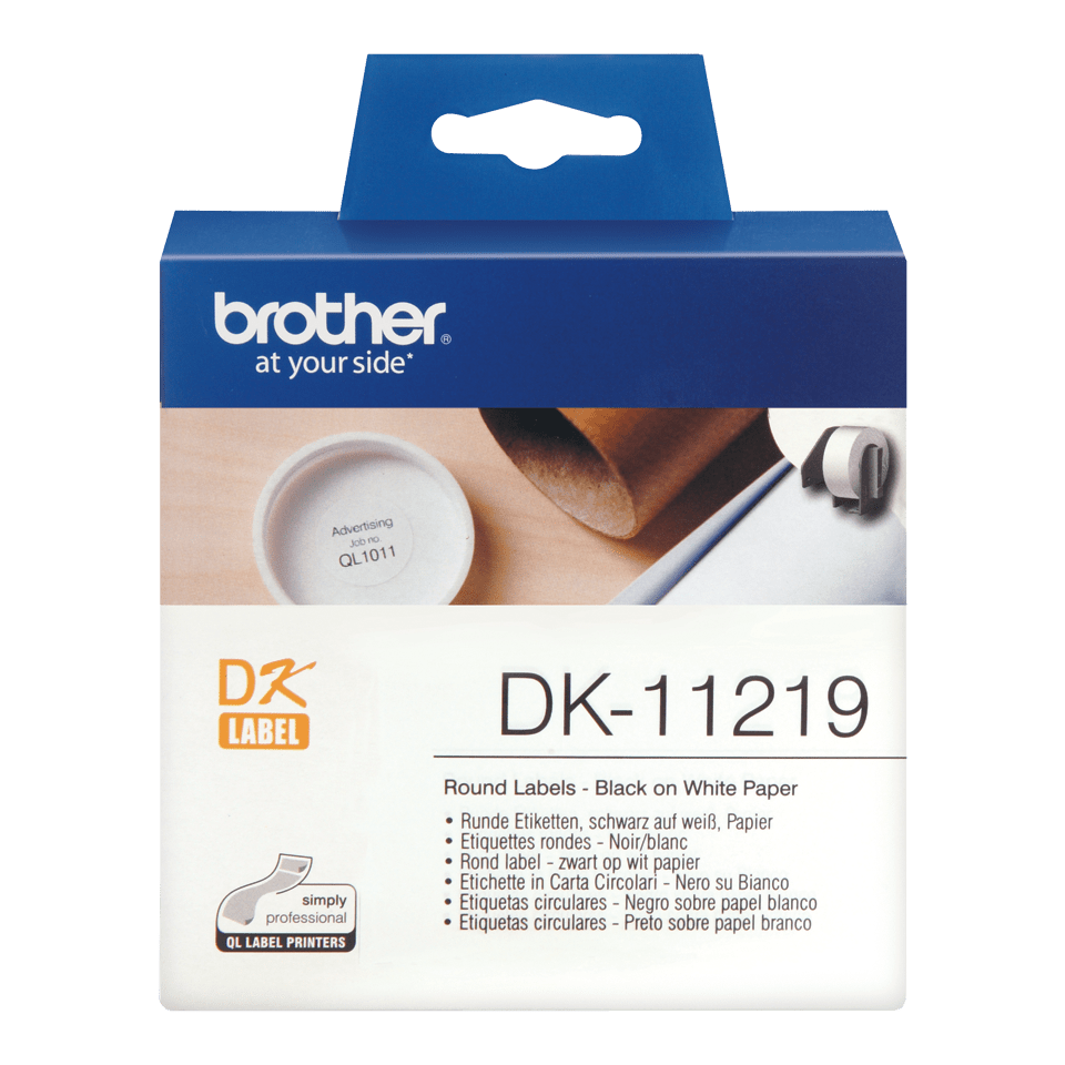 Originele Brother DK-11219 ronde labels