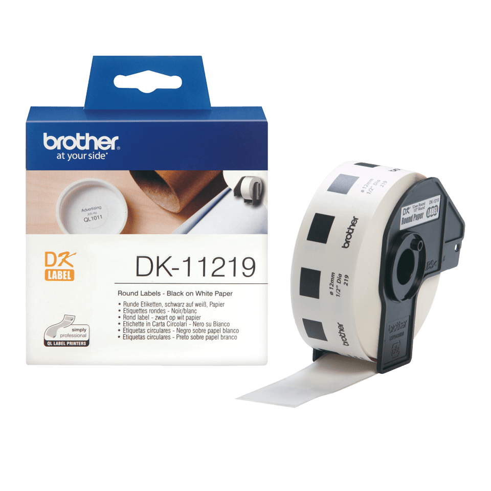 Originele Brother DK-11219 ronde labels 3