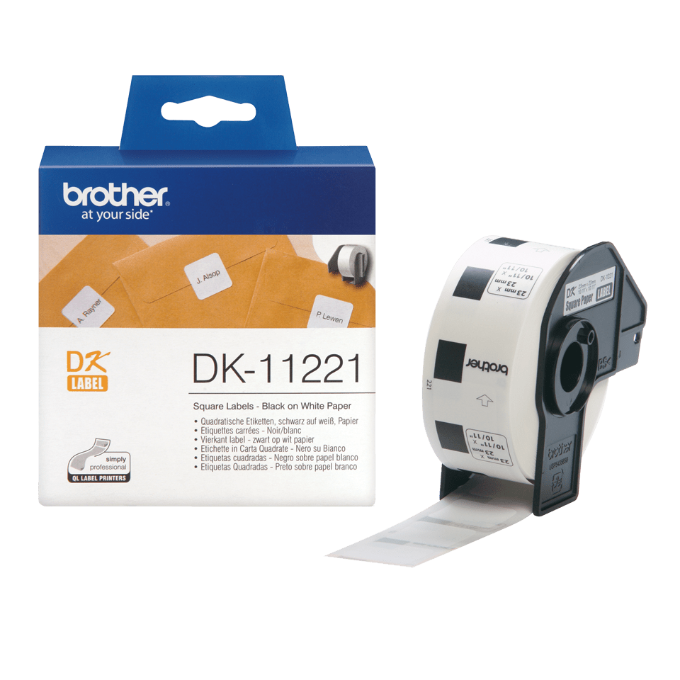 DK-11221 étiquettes carrées Brother originales