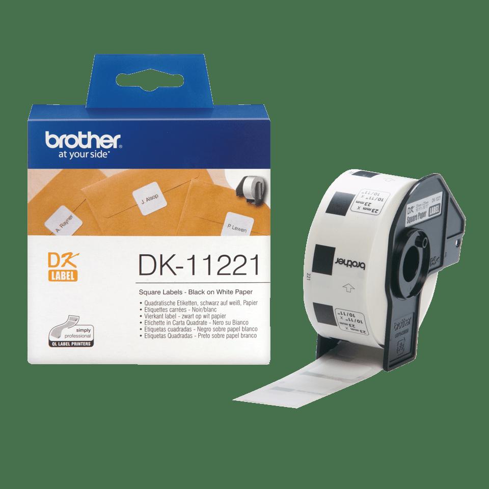 DK-11221 étiquettes carrées Brother originales - 23 x 23mm 2
