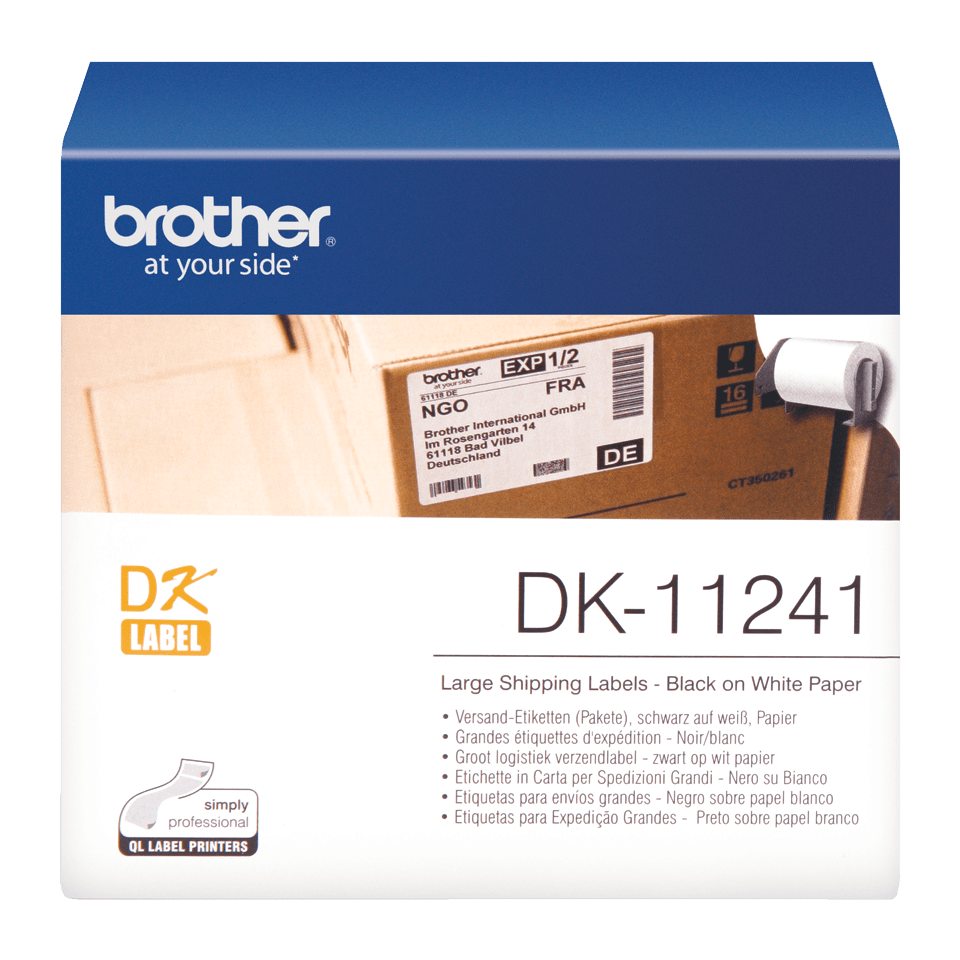 DK-11241 grandes étiquettes d'expédition Brother originales