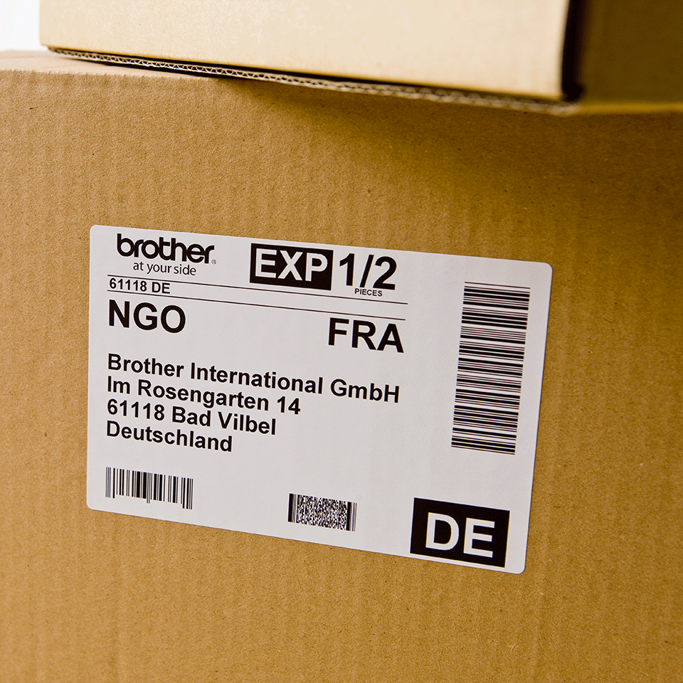Originele Brother DK-11241 grote verzendlabels 2