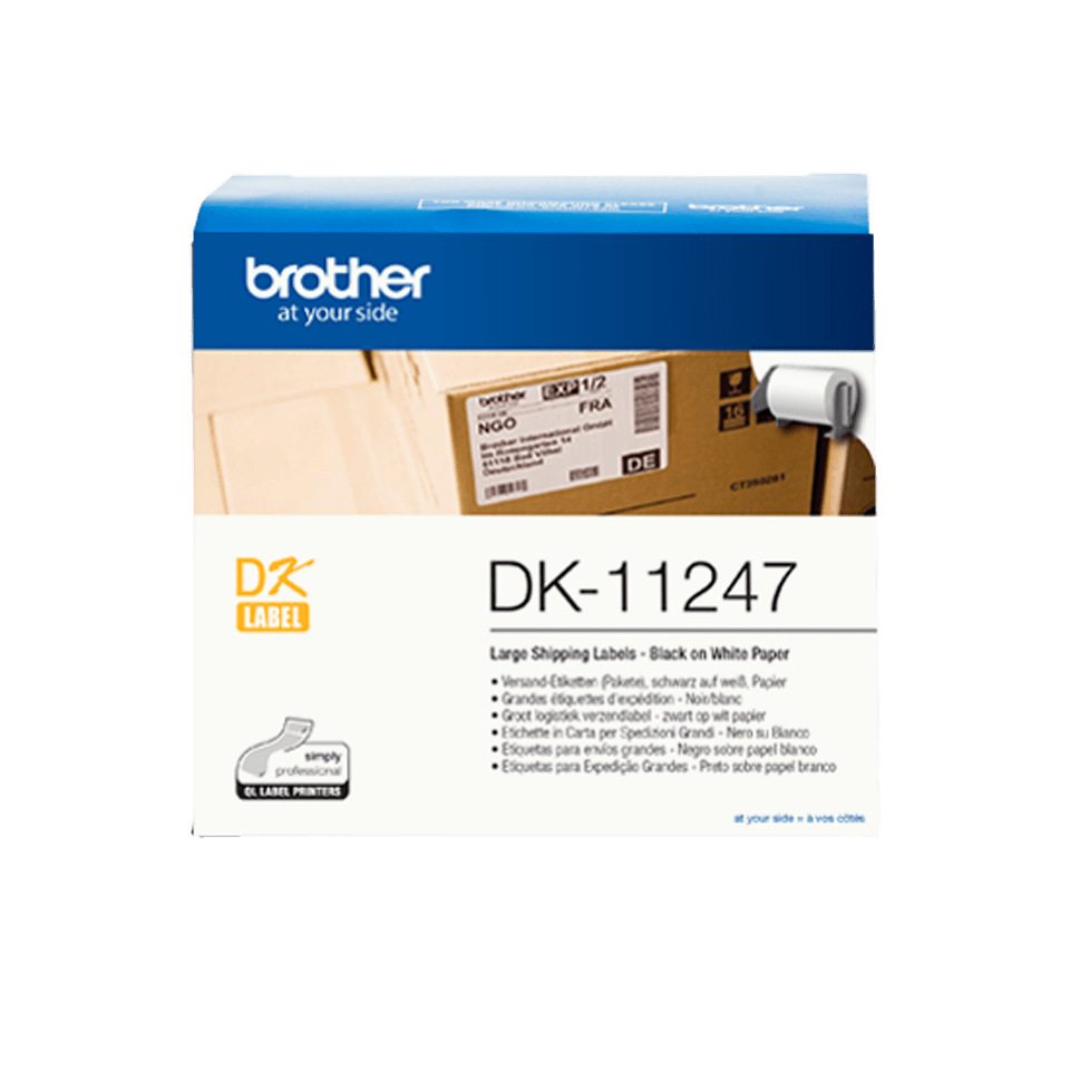 DK-11247 grandes étiquettes d'expédition Brother originales