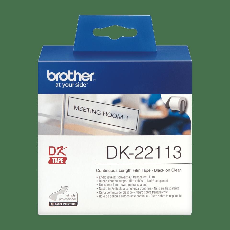 DK-22113 ruban de papier continu Brother original - noir sur transparent 1