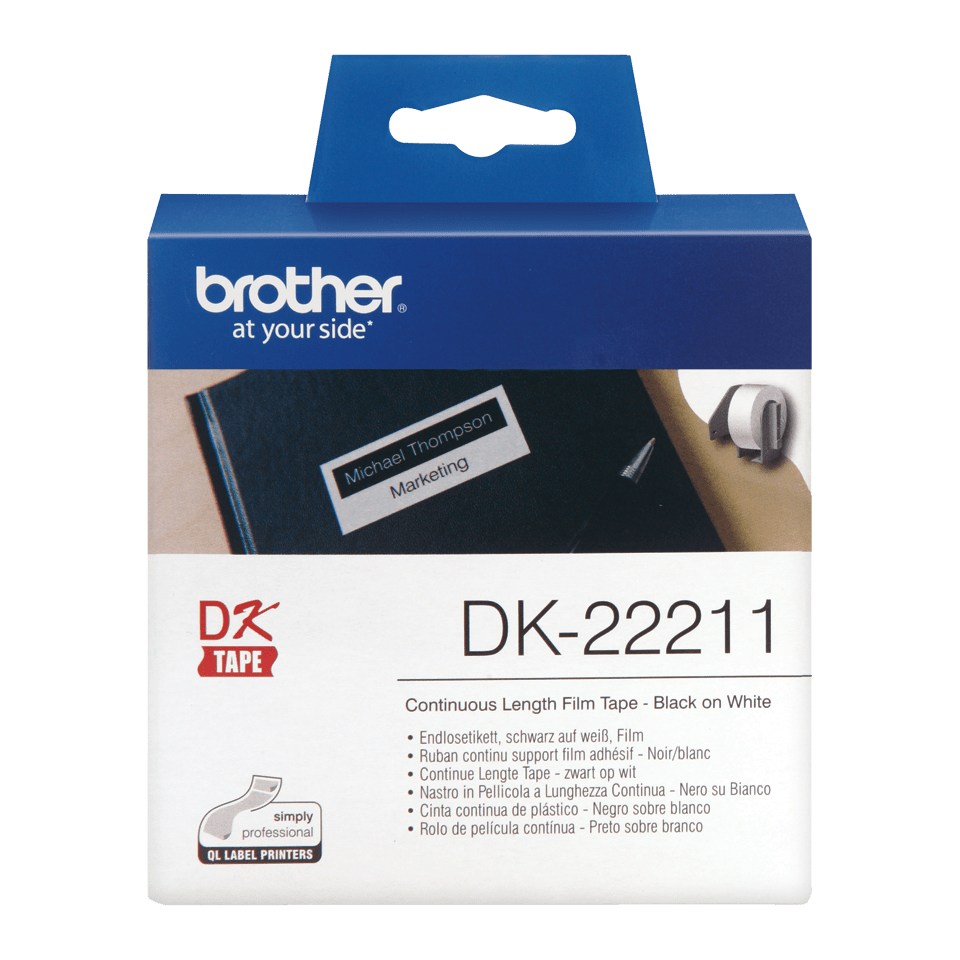 Originele Brother DK-22211 labels