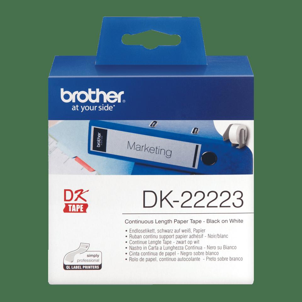 DK-22223 ruban de papier continu Brother original - noir sur blanc 0