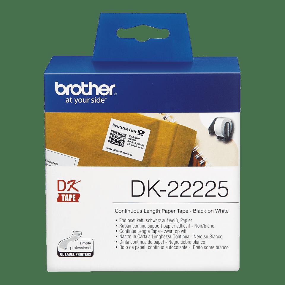 DK-22225 ruban de papier continu Brother original - noir sur blanc 1