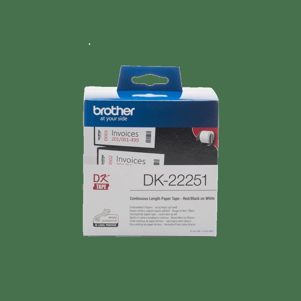 Originele Brother DK-22251 labels