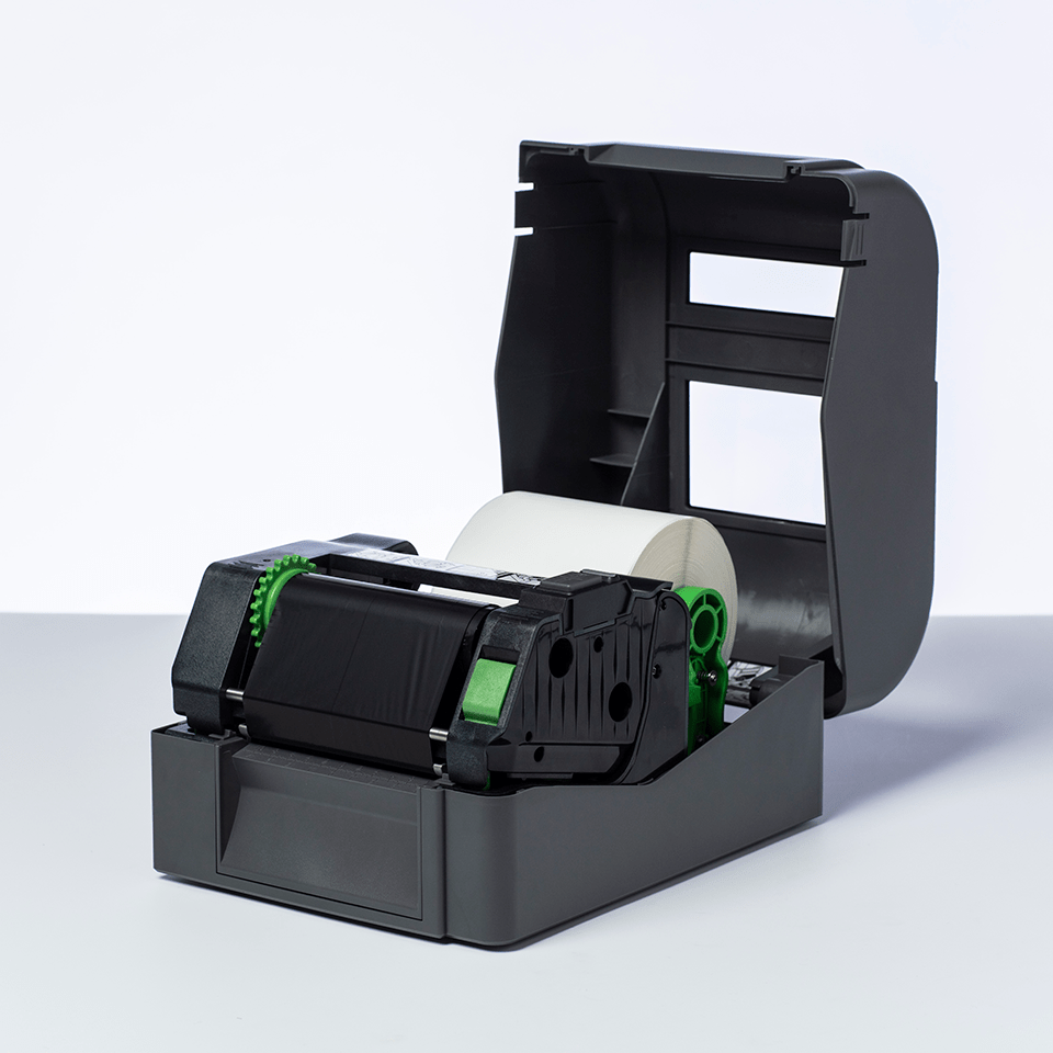 BSS-1D300-110 Standaard wax/resin thermal transfer lint met zwarte inkt 2