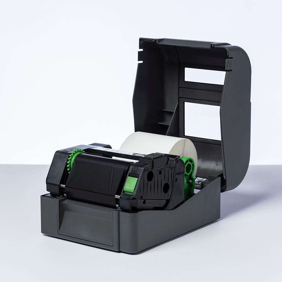 BWP-1D300-110 Ruban encreur noir de cire premium à transfert thermique 2