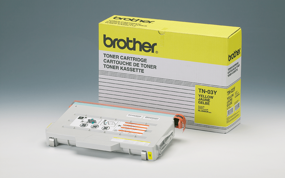 TN-03Y originele gele Brother toner met standaard rendement