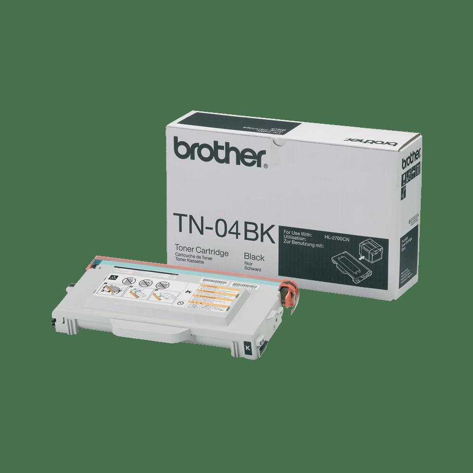 TN-04BK originele zwarte Brother toner met standaard rendement