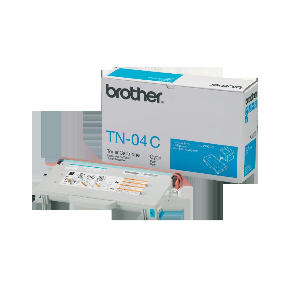 TN-04C originele cyaan Brother toner met standaard rendement