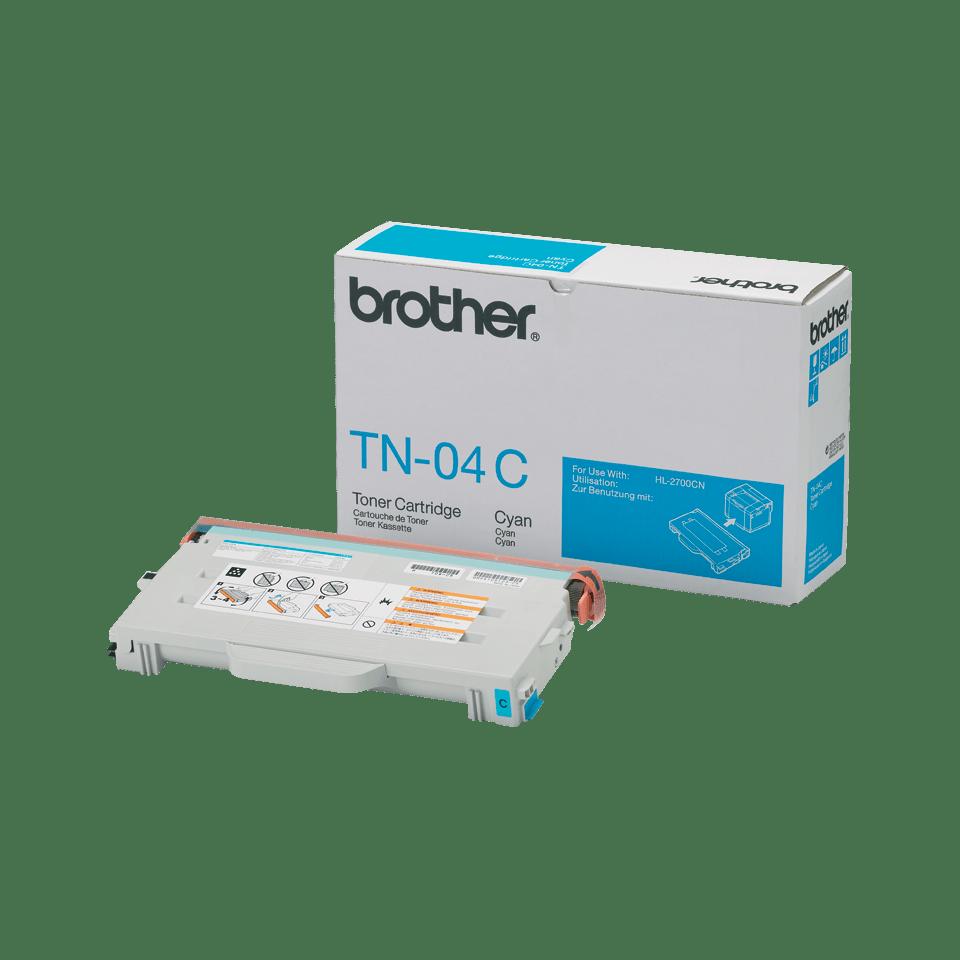 TN-04C toner cyan d'origine Brother à rendement standard