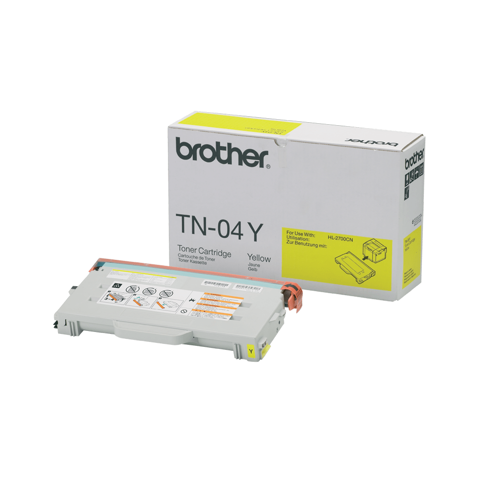 TN-04Y toner jaune d'origine Brother à rendement standard