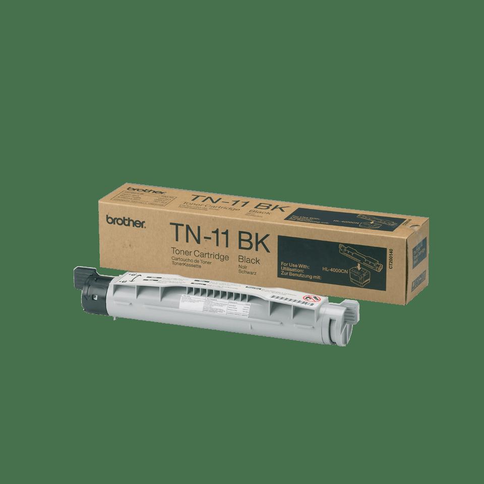 TN-11BK originele zwarte Brother toner met standaard rendement