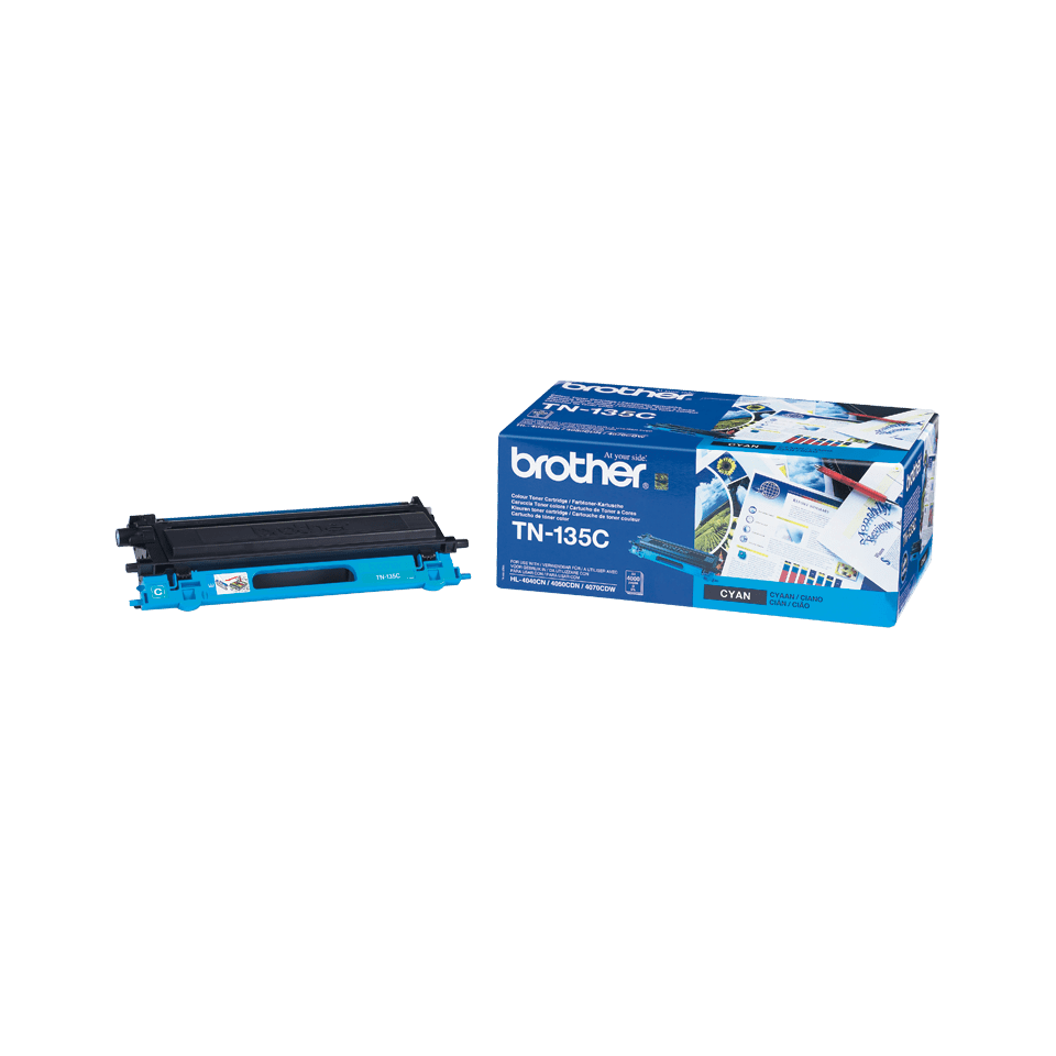 TN-135C originele cyaan Brother toner met hoog rendement