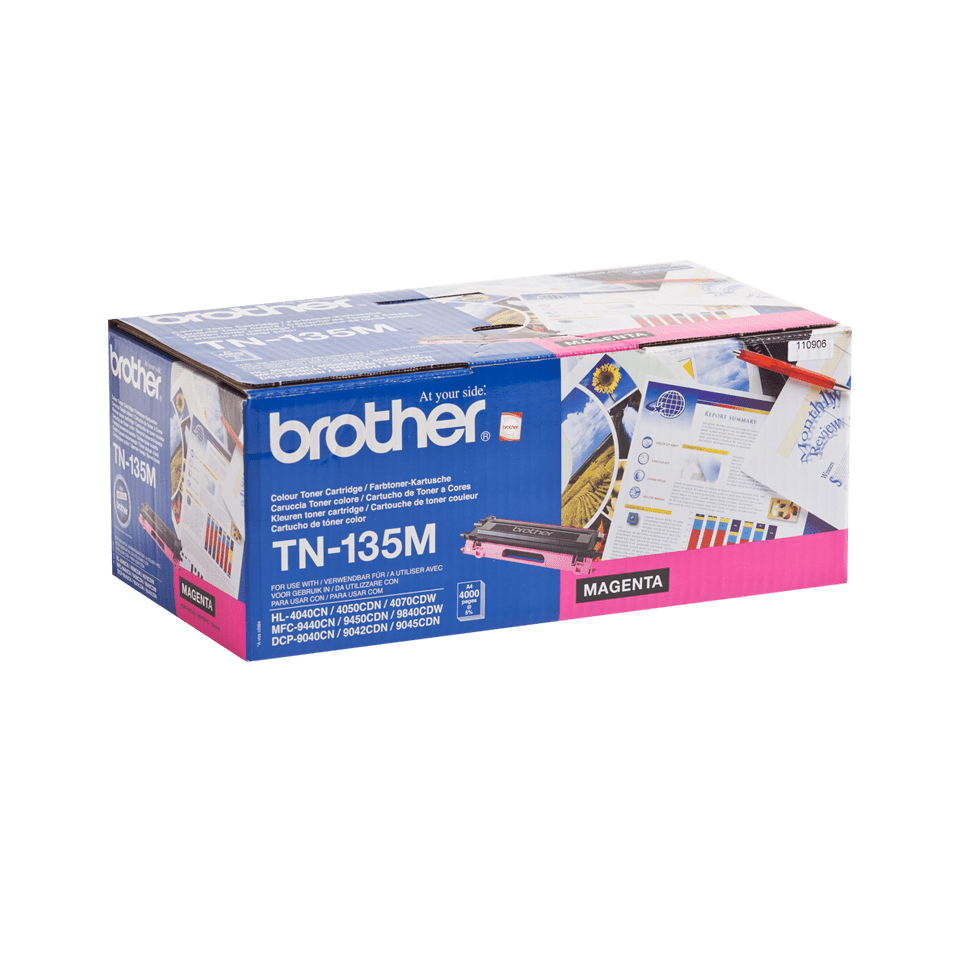 TN-135M originele magenta Brother toner met hoog rendement 1
