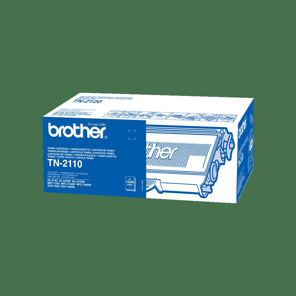 TN-2110 originele zwarte Brother toner met standaard rendement