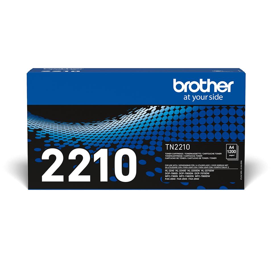 TN-2210 originele zwarte Brother toner met standaard rendement