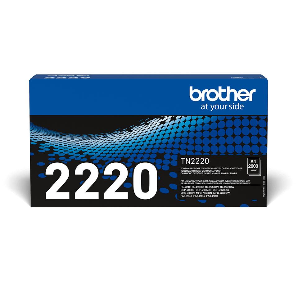 TN-2220 originele zwarte Brother toner met hoog rendement