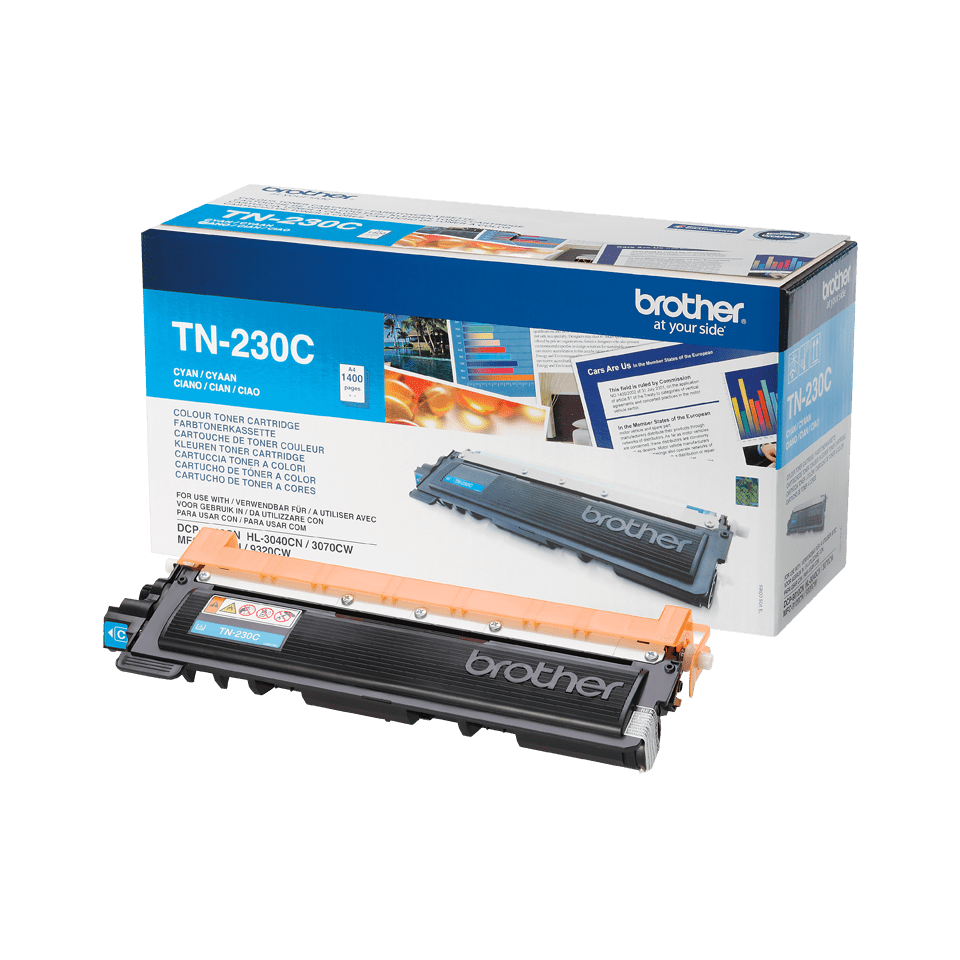 TN-230C toner cyan d'origine Brother à rendement standard