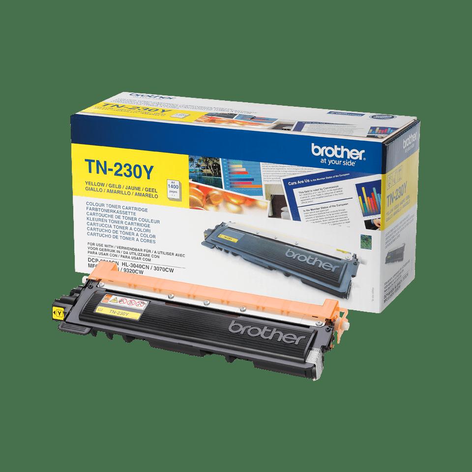 TN-230Y originele gele Brother toner met standaard rendement 2