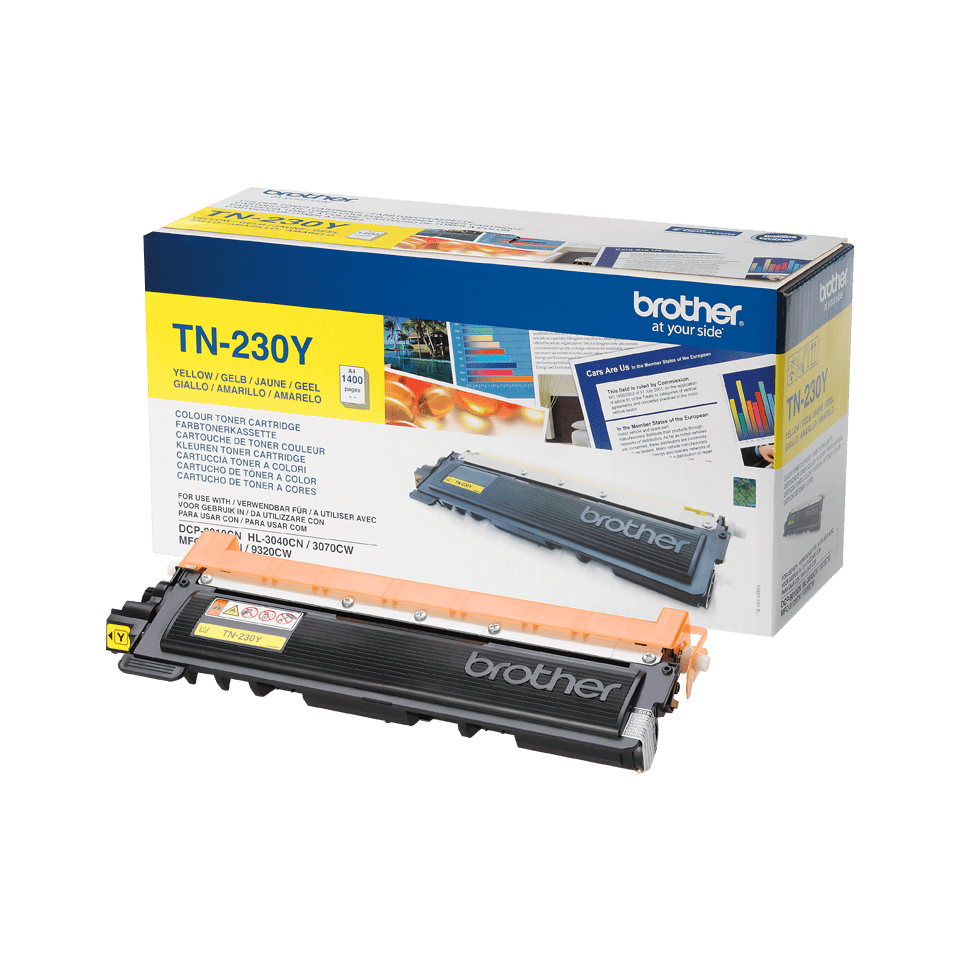 TN-230Y toner jaune d'origine Brother à rendement standard