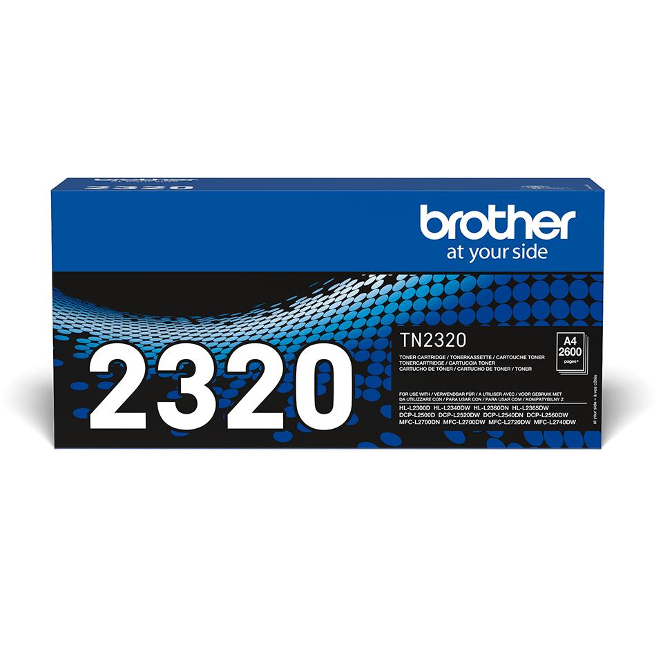 TN-2320 originele zwarte Brother toner met hoog rendement 0