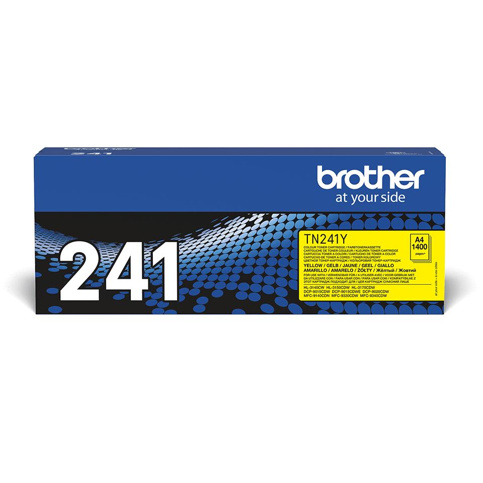 TN-241Y originele gele Brother toner met standaard rendement