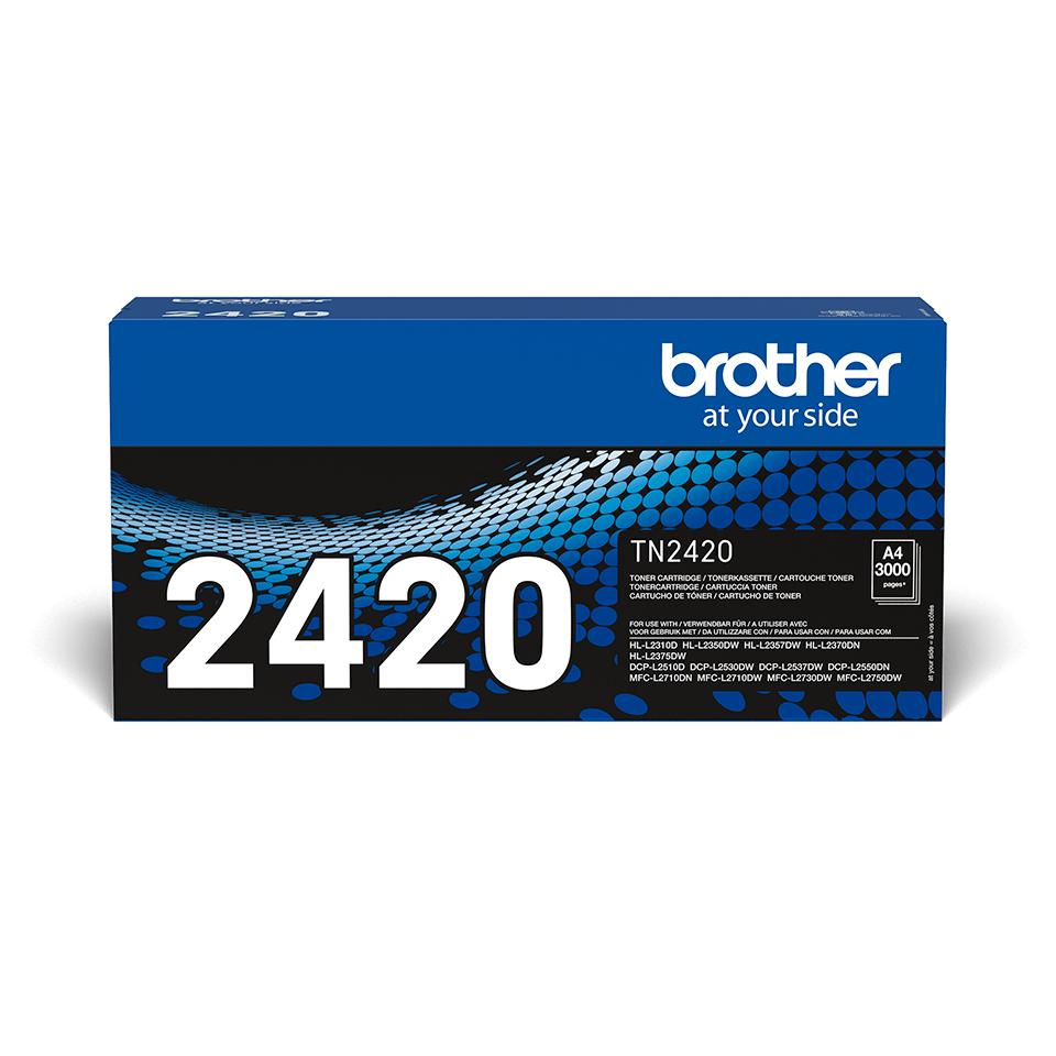 TN-2420 originele zwarte Brother toner met hoog rendement