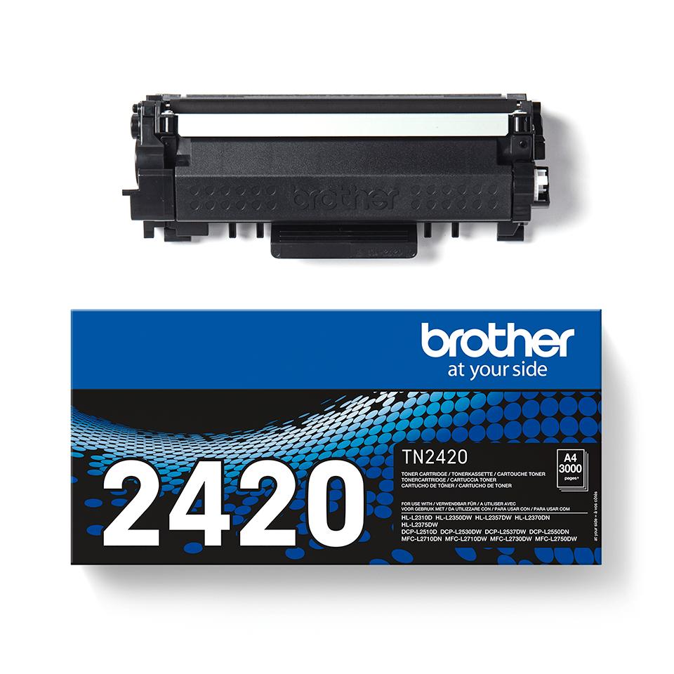TN-2420 toner noir d'origine Brother à haut rendement