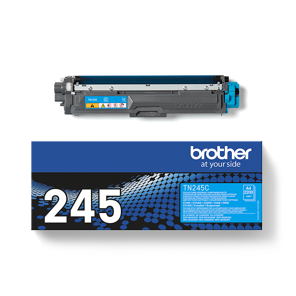 TN-245C toner cyan d'origine Brother à haut rendement