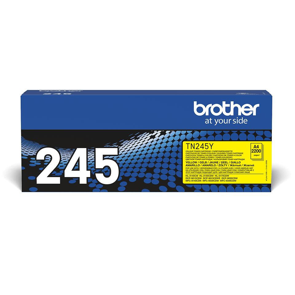 TN-245Y originele gele Brother toner met hoog rendement 2