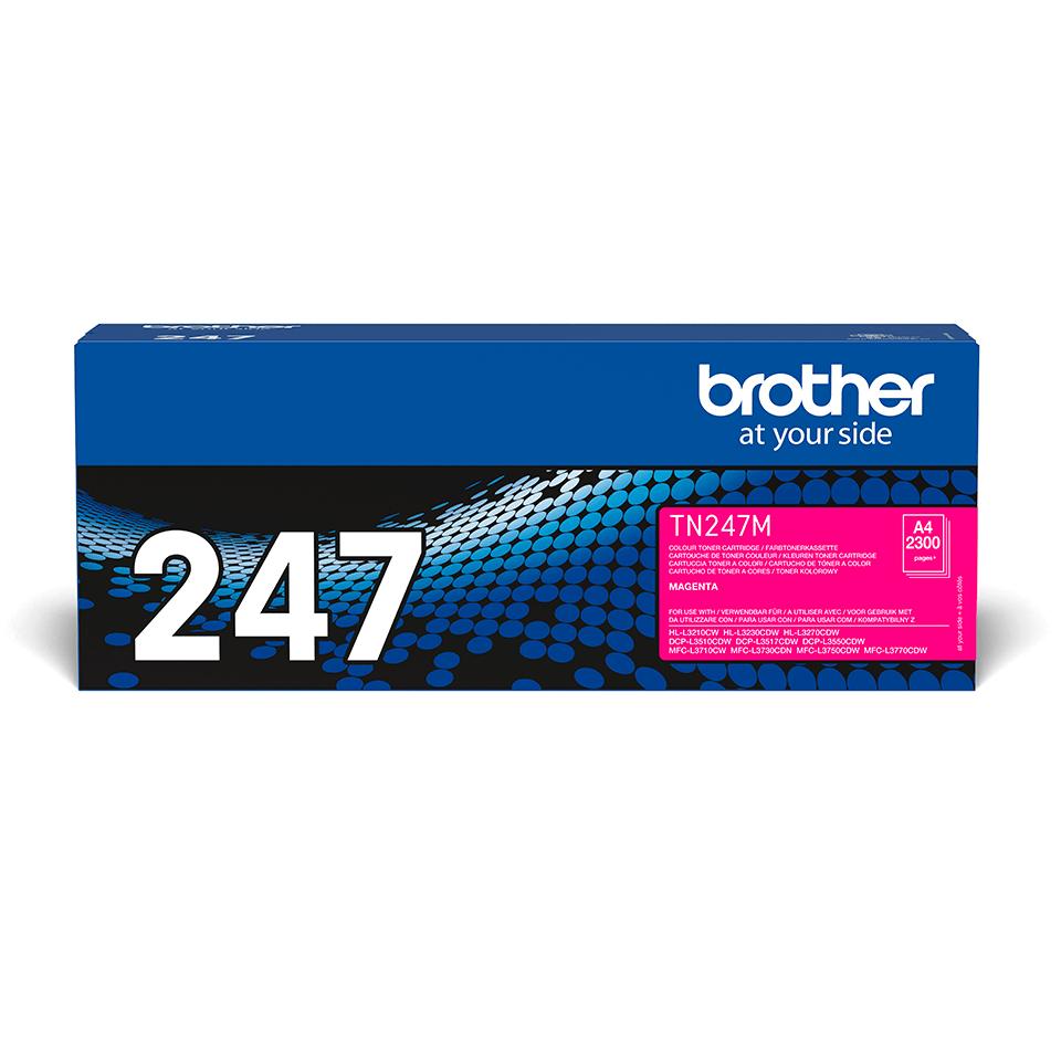 TN247M originele magenta Brother toner met hoog rendement