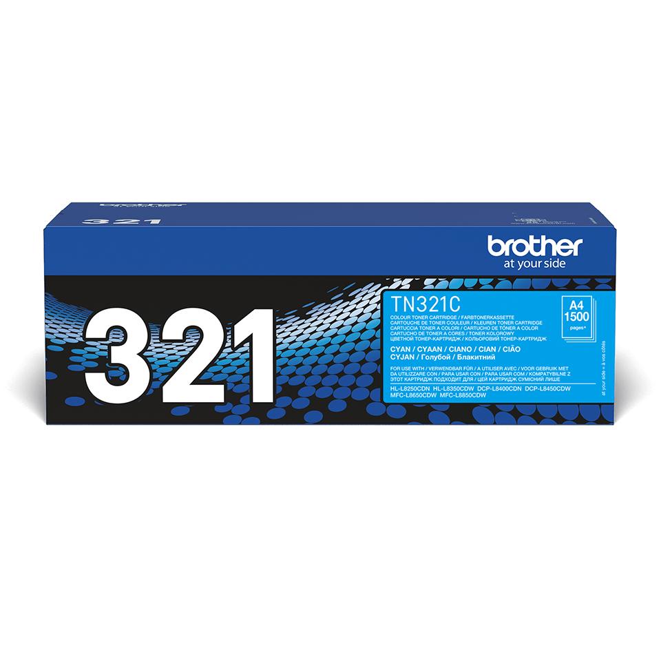 TN-321C toner cyan d'origine Brother à rendement standard