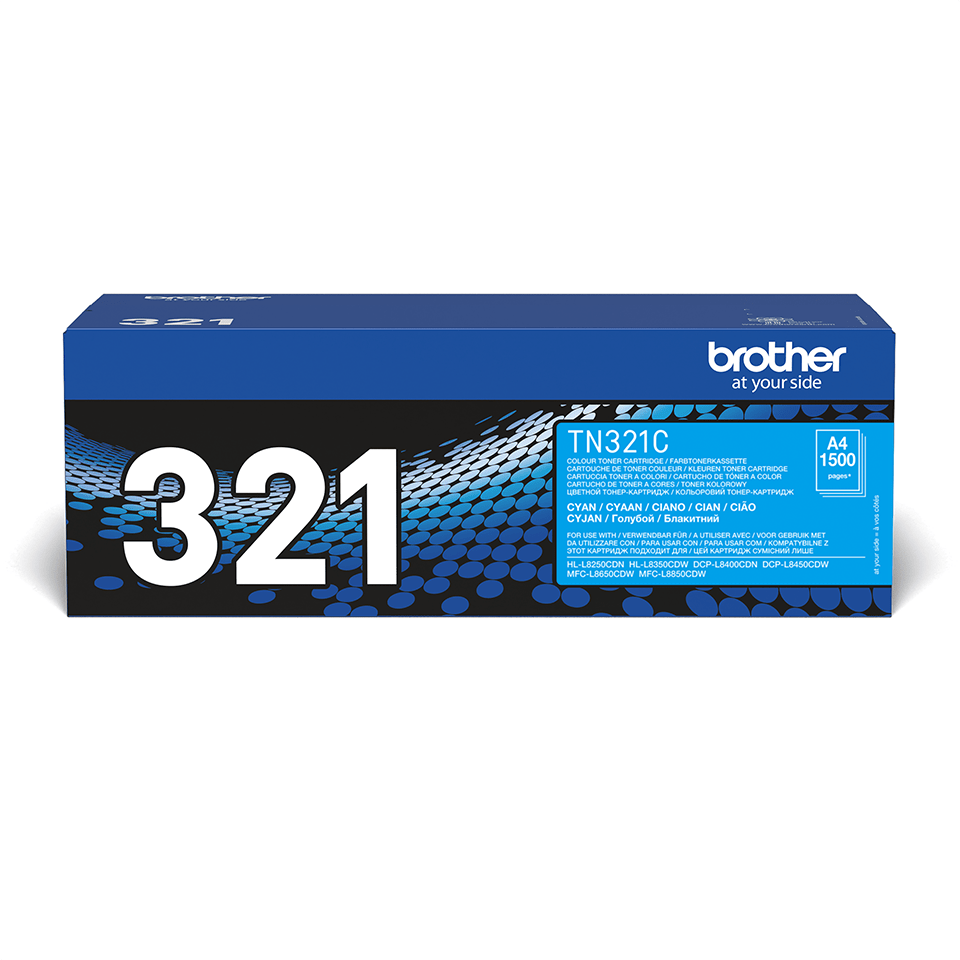 TN-321C toner cyan d'origine Brother à rendement standard 2