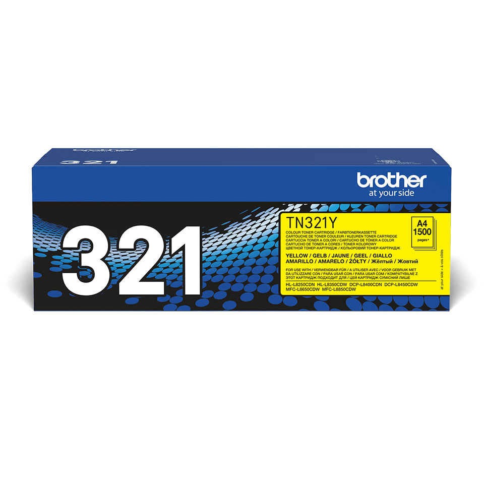 TN-321Y toner jaune d'origine Brother à rendement standard