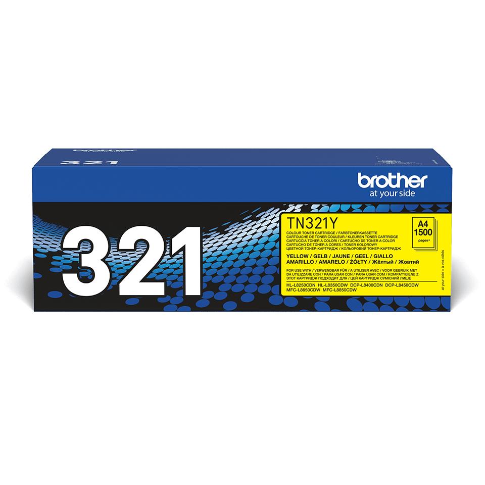 TN-321Y originele gele Brother toner met standaard rendement 0