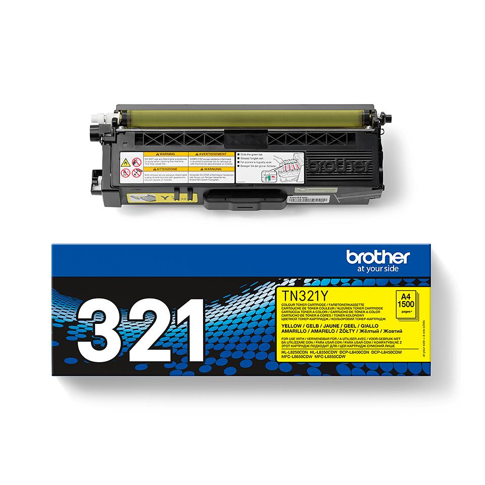 TN-321Y originele gele Brother toner met standaard rendement