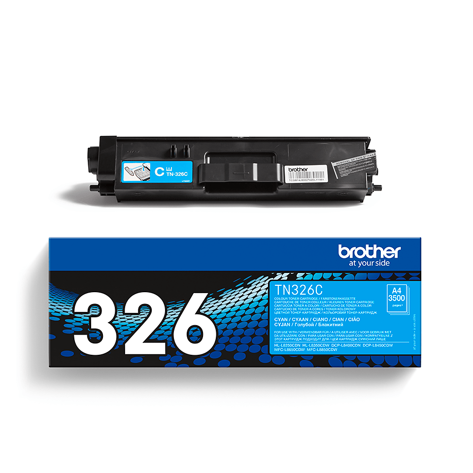 TN-326C originele cyaan Brother toner met hoog rendement 2