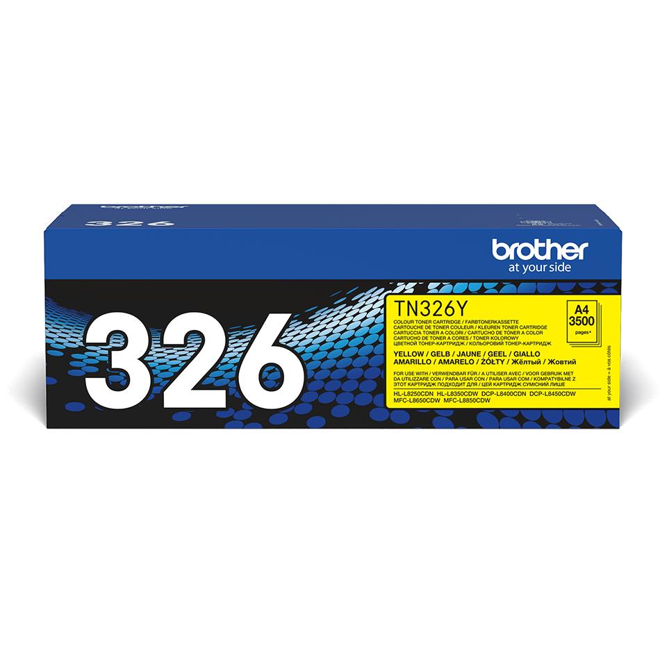 TN-326Y toner jaune d'origine Brother à haut rendement