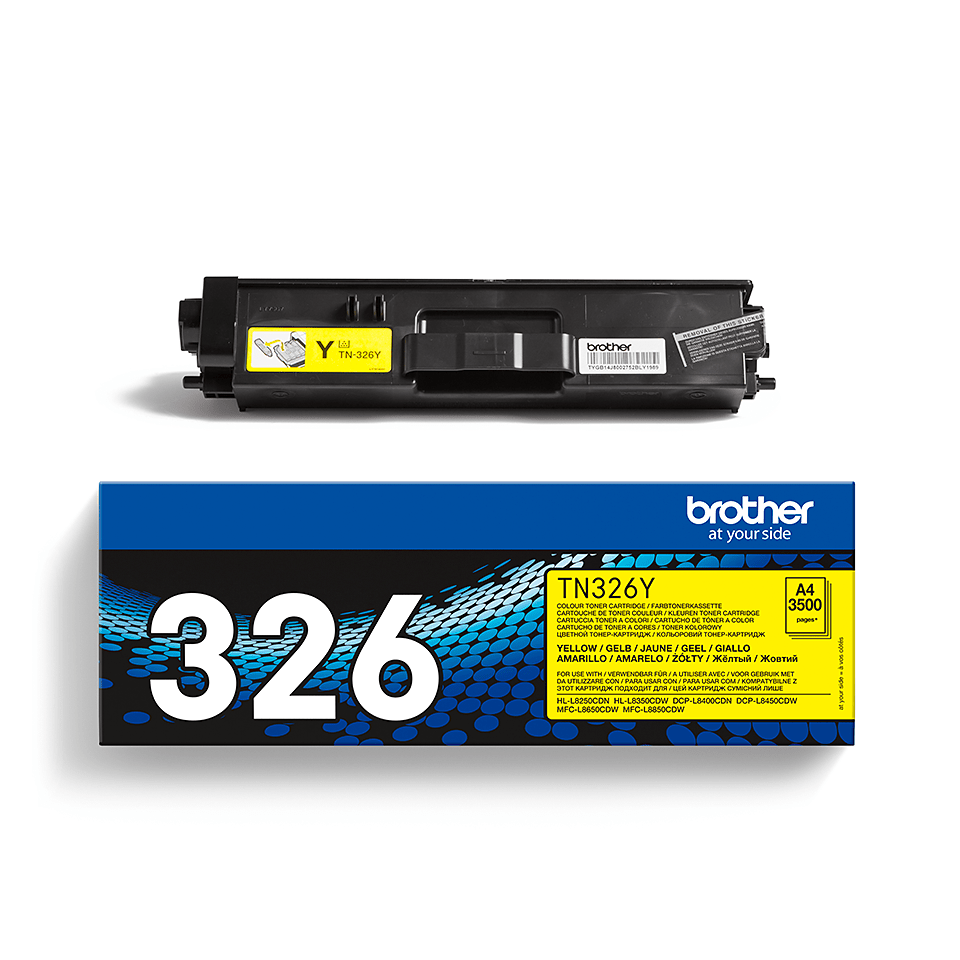 TN-326Y toner jaune d'origine Brother à haut rendement