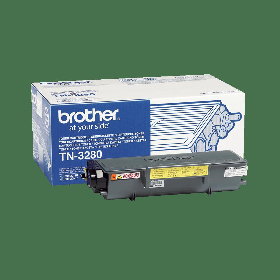 TN-3280 originele zwarte Brother toner met hoog rendement